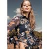 Dragon Print Pia sheer sleeve blouse By Desoto Germany