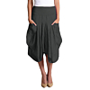 inizio-linen-2 pocket-magic-skirt-black