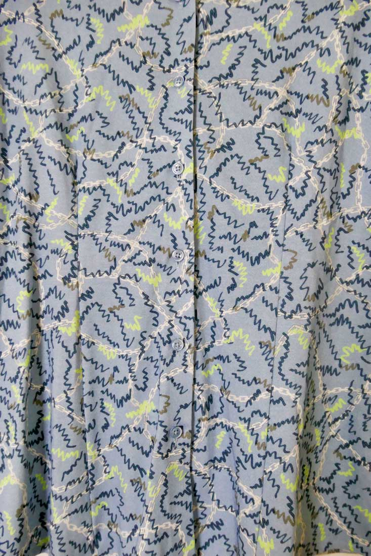 BLUE SQUIGGLE Pia LS Blouse
