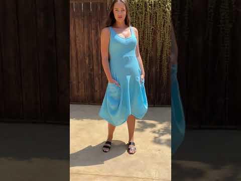 MAGIC 2 POCKET Sleeveless Linen Dress- Solid Colors