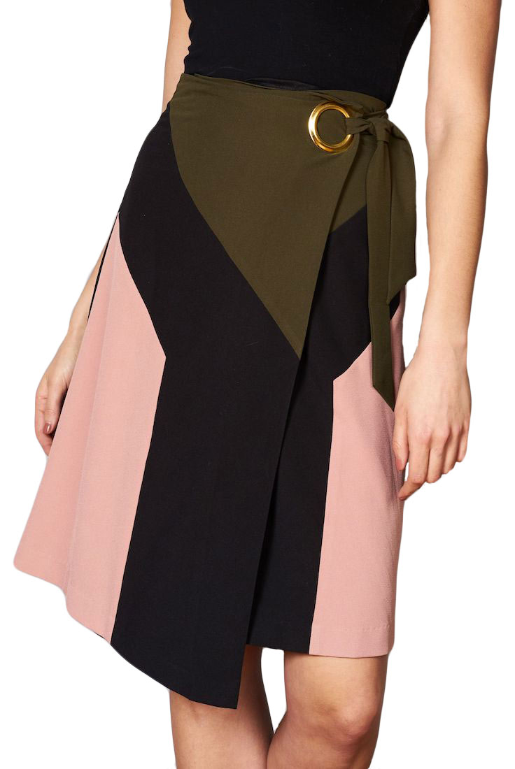 DAWN Colorblock Wrap Skirt