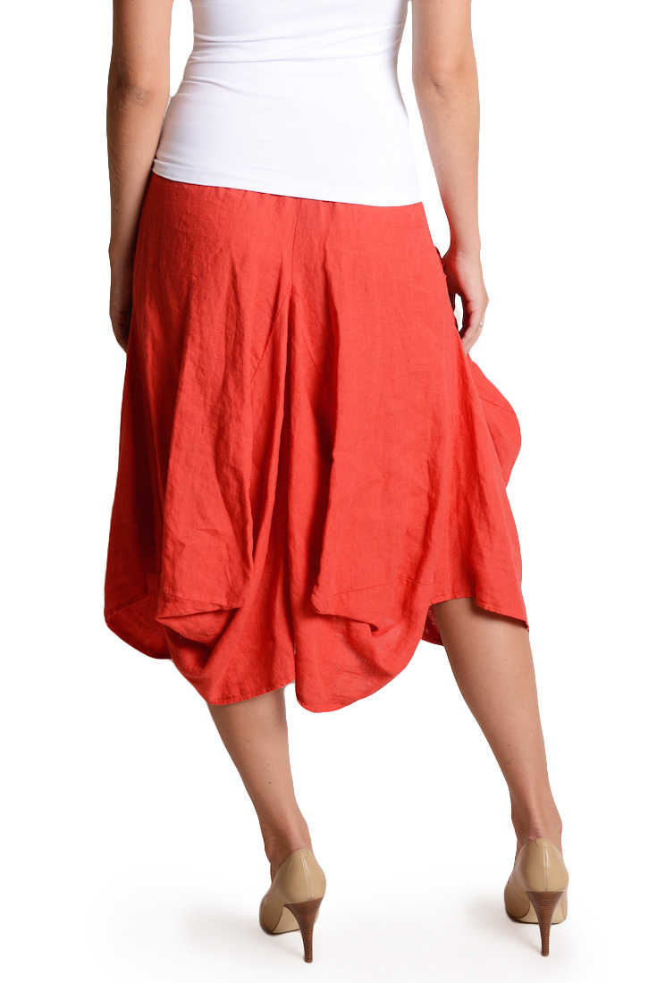 MAGIC 2 Pocket Linen Skirt Striped