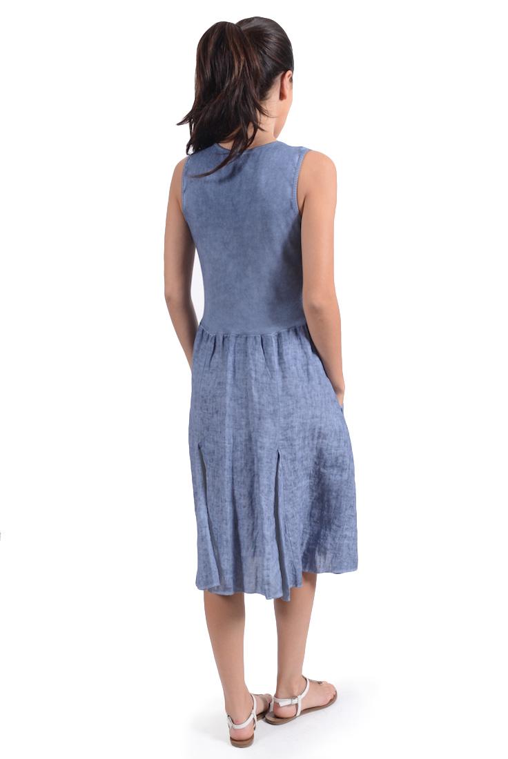 KAYA V Neck A Line Dress
