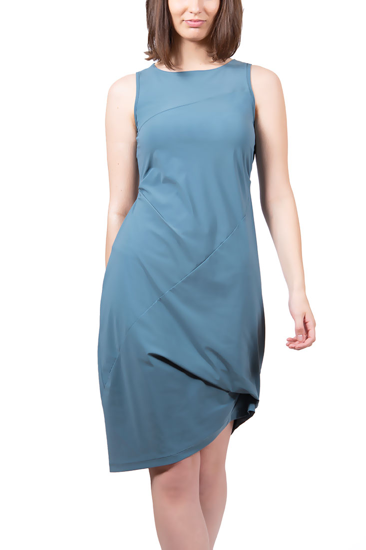 CARLYLE Draped Dress Solid